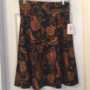 LuLaRoe Beautiful Fall Azure Skirt Sz XL NWT